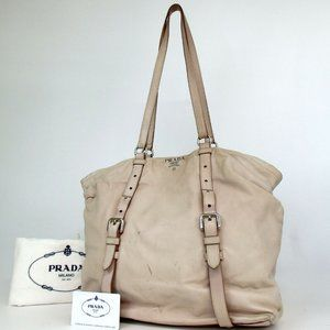 Prada BR3909 Leather Shoulder Bag***